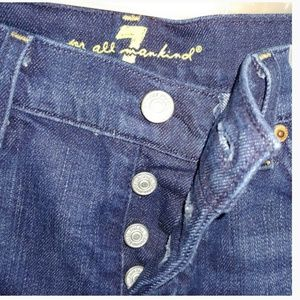 7 For All Mankind button fly darkwash
